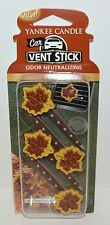 YANKEE CANDLE AUTUMN WREATH LEAF CAR VENT STICK CLIP AIR FRESHENER PACK 4 PIECES