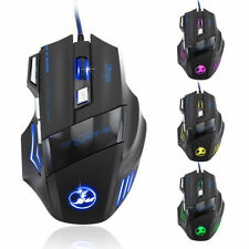 5500 DPI 7 Button LED Optical USB Wired Gaming Mouse Mice For Pro Gamer Cheap B2