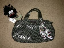Ed Hardy hand bag *BRAND NEW* canvas and olive color