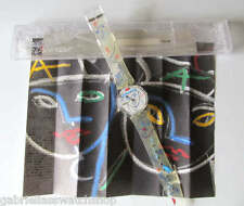 """FLOWERS! Abstract """"SAILOR""""  Art Swatch with ART PAPERS By LINDSAY KEMP-NIB!"""