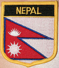 NEPAL Shield Country Flag Embroidered PATCH Badge P1