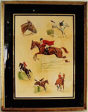Lithograph EQUESTRIAN SPORT Signed Numbered by J. RIVET (French School 20th C)