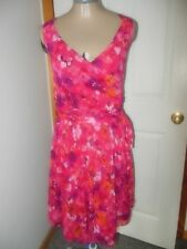 Express Hot Pink/Multi-color Floral Sleeveless Dress - Size 10/11