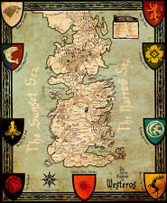 "Game of Thrones MAP Poster  - 11"" x 13-3/4""  [ T4 ]"