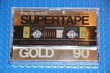 REALISTIC  SUPERTAPE  GOLD  90  VS. II  BLANK  TAPE  (1)   44-921  (SEALED)