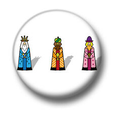 Three Wise Men 1 Inch / 25mm Pin Button Badge Cute Christmas Kings Gold Gifts