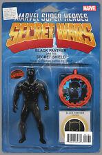 MARVEL 2015 SECRET WARS BATTLEWORLD #1 BLACK PANTHER ACTION FIGURE VARIANT COMIC