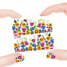 Nail Art Manicure Water Transfer Decal Sticker Flowers SY1600