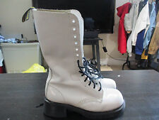 Dr Doc Martens White Boots 14 Eyelet Womens Size 6 Ladies Medium Air Weir Shoes