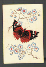Playing  Cards 1 ANTIQUE SQ  CORNER  BUTTERFLY &  BLOSSOMS  SQ27