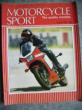 Motorcycle Sport Magazine Aug 1984 750 desmo ducati,exhaust systems etc