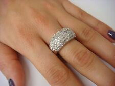 18K WHITE GOLD LARGE DOME 1 CARAT T.W. DIAMOND LADIES RING/BAND 13.4 GRAMS
