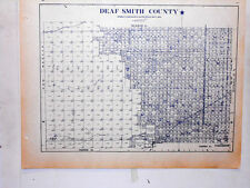 Old Deaf Smith County Texas Land Office Owner Map Hereford Dawn Glenrio