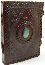 "LARGE Antique Leather Journal with locks-Guest book/Instagram Photo Book -10""x7"""