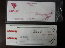 1/144 DECALS FLIGHT DESIGNS MIDWAY AIRLINES DC-9 / B-737  DECALCOMANIE