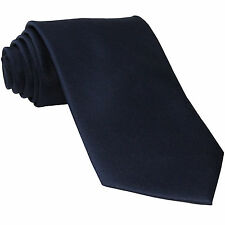 New Polyester Men's Neck Tie only solid formal wedding prom party navy dark blue