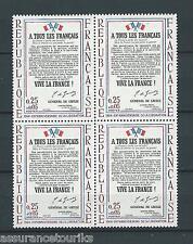 FRANCE TABLEAUX - 1964 YT 1408 bloc de 4 - TIMBRES NEUFS** LUXE