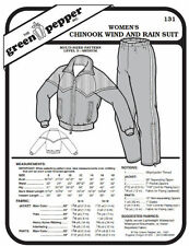 Women's Chinook Wind and Rain Suit Jacket Coat Pants #131 Sewing Pattern gp131