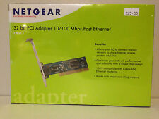 Netgear Adattatore PCI a 32 Bit 10/100 Mbps Fast Ethernet fa311v2 NUOVO CON SCATOLA