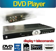 DVD CD LETTORE HDMI HD USB RCA DIVX DISPLAY DIGITALE MEDIA PLAYER MICROSD COAX
