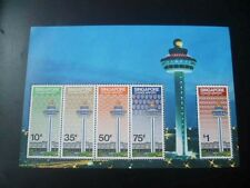 29 December 1981 SINGAPORE CHANGI AIRPORT MINIATURE SHEET M/S STAMP (S-23)