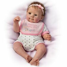 Ashton Drake - DADDY'S LITTLE GIRL Lifelike Baby Doll Girl By Sherry Rawn -LAST