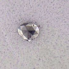 Beautiful 0.08TCW Jet Black AA color Heart shape Loose Natural Diamond for Jewel
