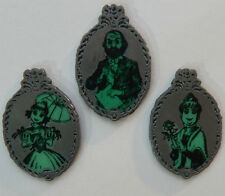 3 HUNTED MANSION DISNEY TRADING PIN LOT PINS glow in the dark portraits