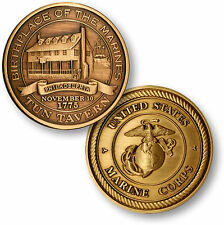 "U.S. Marine Corps - Tun Tavern ""Birthplace of the Marines"" Bronze Challenge Coin"