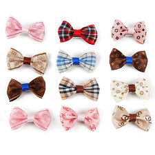 12PC/lot Pet Bow Tie Dog Hair Clip Hairpin Random Color Dog Hair Accessories
