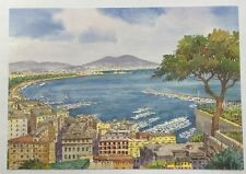 PostCard Of Italy-4,1/2x6,3/4inch-Napoli-printed On Pounded Paper.-MadeInItaly