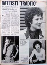 LUCIO BATTISTI_ RICCARDO COCCIANTE =  Ritaglio 1  pagina 1980 / Italian CLIPPING