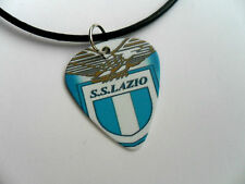Football Club LAZIO  Rome Double Sided Guitar Pick  /  Plectrum Leather Necklace