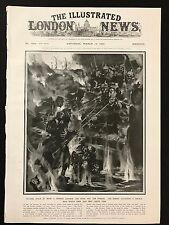 1915 Original Newspaper Front Page - Germans use liquid fire in trenches, WW1