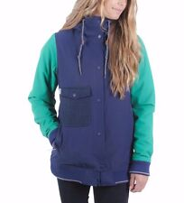 2016 NWT WOMENS HOLDEN ASHLAND VARSITY SNOWBOARD JACKET $260 M ink emerald blue