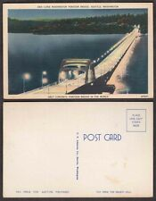 Old Postcard - Seattle, Washington - Pontoon Bridge