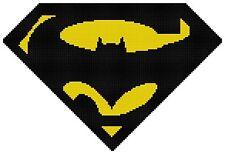 Counted Cross Stitch Pattern, Batman vs. Superman Logo #2 - Free US Shipping
