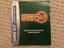 Golden Sun-Game Boy Advance Gba Solo Manual De Instrucciones