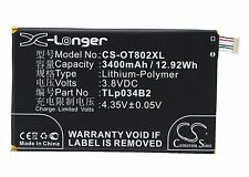 3.8V Battery for Alcatel N3Y910T Y910 Y910T TLp034B1 Premium Cell UK NEW