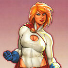 "POWER GIRL Signed ART PRINT Joseph Michael JOE LINSNER Sexy 17x11"" SDCC 2014 New"