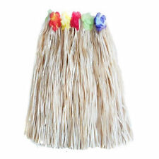 Hula Skirt Hawaiian Grass Luau Lei Flower Fancy Dress Party Costume Long Natural