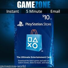 PlayStation Network $10 USD Code - 10 Dollar PSN US Store Card - PS4/PS3/PSP USA
