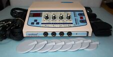 4 channel Electrotherapy Multi Current Stimulator Pain Relief Dynoplus KJ76Be
