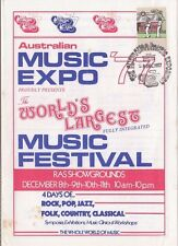 Stamp Australia on 1977 Music Expo brochure with relevant commemorative postmark
