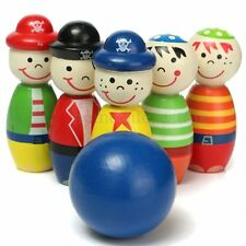 Children Toys Wooden Bowling Ball Skittle Funny Shape for Kids Girls Boys Game