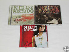 NELLY FURTADO 3 CD LOT COLLECTION ALBUMS Loose/Whoa/Folklore POP