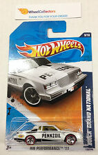 Buick Grand National White #139 * RED LINE Tires Walmart * 2011 Hot Wheels * D30