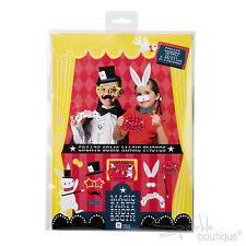 MAGIC PARTY PHOTO BOOTH KIT (Props With Frame) Children's Birthday Game/Dress Up