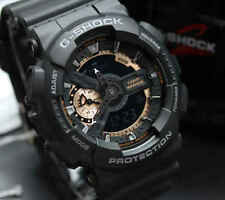 Imported Casio G-Shock, GA110RG, Black Rose Gold  Rubber Sports Watch For Men