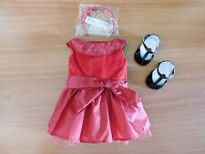 NIB ~ American Girl Joyful Jewels Outfit ~ Complete Red Dress Headband Christmas
